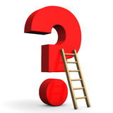 Question Mark Ladder Royalty Free Stock Photo