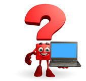 Question Mark with laptop Royalty Free Stock Image