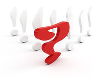 Question-mark leadership concept Stock Photography