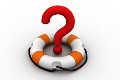 Question mark with  lifebuoy Royalty Free Stock Images