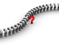 Question mark line Stock Image