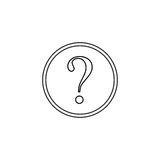 Question mark line icon, help sign, FAQ. Social media, vector graphics, a linear pattern on a white background, eps 10 Stock Photo