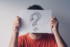 Question mark, looking for answers royalty free stock photos