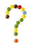 Question mark made of candies Royalty Free Stock Photography