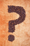 Question Mark made of Coffee Beans Royalty Free Stock Image