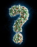 Question mark  made from Euro bills - money laundering Stock Photos