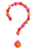 Question mark made with flowers Stock Photography