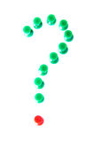 Question mark made from office items. Royalty Free Stock Images