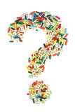 Question mark made of pills Royalty Free Stock Image