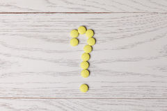 Question mark made of pills Royalty Free Stock Photo