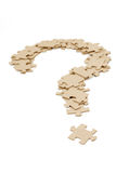 Question mark made by puzzles Royalty Free Stock Photography
