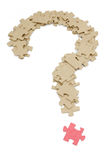 Question mark made by puzzles Stock Images