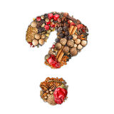 Spices number stock images