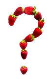 Question mark made with strawberries Stock Photos