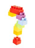 Question mark made of toy bricks Stock Photography