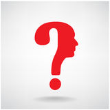 Question mark man head symbol Royalty Free Stock Image