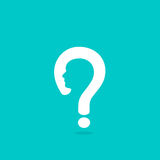 Question mark man head symbol Stock Photography