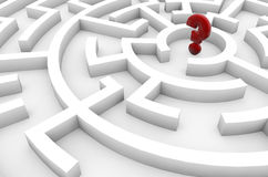 Question mark in a maze Stock Photo