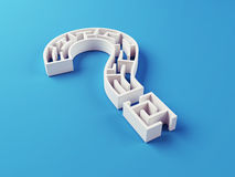 Question Mark Maze puzzle Stock Photography