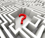 Question Mark In Maze Shows Confusion Royalty Free Stock Photo