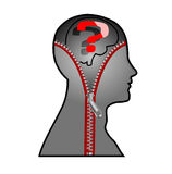 The question mark in the mind of man Royalty Free Stock Images