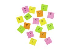 Question mark note it sticker Royalty Free Stock Images
