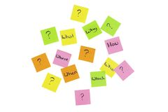 Question mark note it sticker Royalty Free Stock Photo