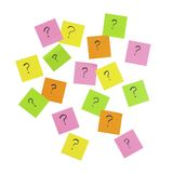 Question mark note it sticker Royalty Free Stock Image