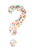 Question mark out of pharmaceuticals Royalty Free Stock Photo