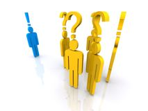 Question mark over people Royalty Free Stock Image