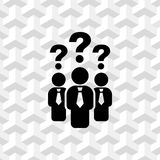 Question mark over people icon stock vector illustration. Icon stock vector illustration flat design style Royalty Free Stock Image