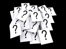 Question mark pads Royalty Free Stock Photography