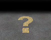 Question Mark Painted On A Road royalty free illustration