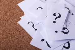 Question Mark Paper Stock Photos