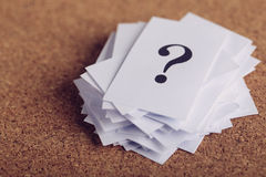 Question Mark Paper Royalty Free Stock Photography