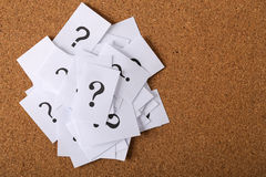 Question Mark Paper Stock Photography