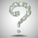 Question mark paper polygons Royalty Free Stock Image
