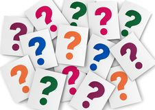 Question mark papers Royalty Free Stock Image