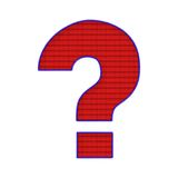 Question Mark Patch Stock Photo