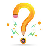 Question mark pencil Stock Image