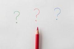 The question mark and pencil Royalty Free Stock Photos