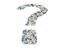 Question mark in pictures Stock Photos