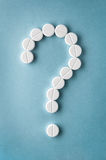 Question mark  from pills Royalty Free Stock Photo