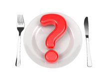 Question Mark on Plate.