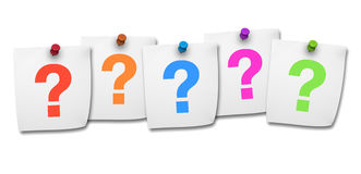 Question Mark On Post It Royalty Free Stock Photography