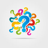 Question mark poster Royalty Free Stock Images