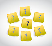Question mark posts illustration design Stock Photo