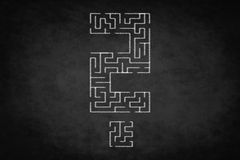 Question mark, problem concept - labyrinth  illustration Royalty Free Stock Image