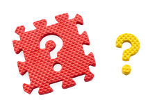 Question mark puzzle Stock Photo