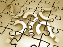 Question mark puzzle 3d rendered graphic Stock Image
